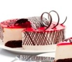 strawberry-cake-over-white-background